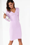 Ginsey Lilac Ruched Dress
