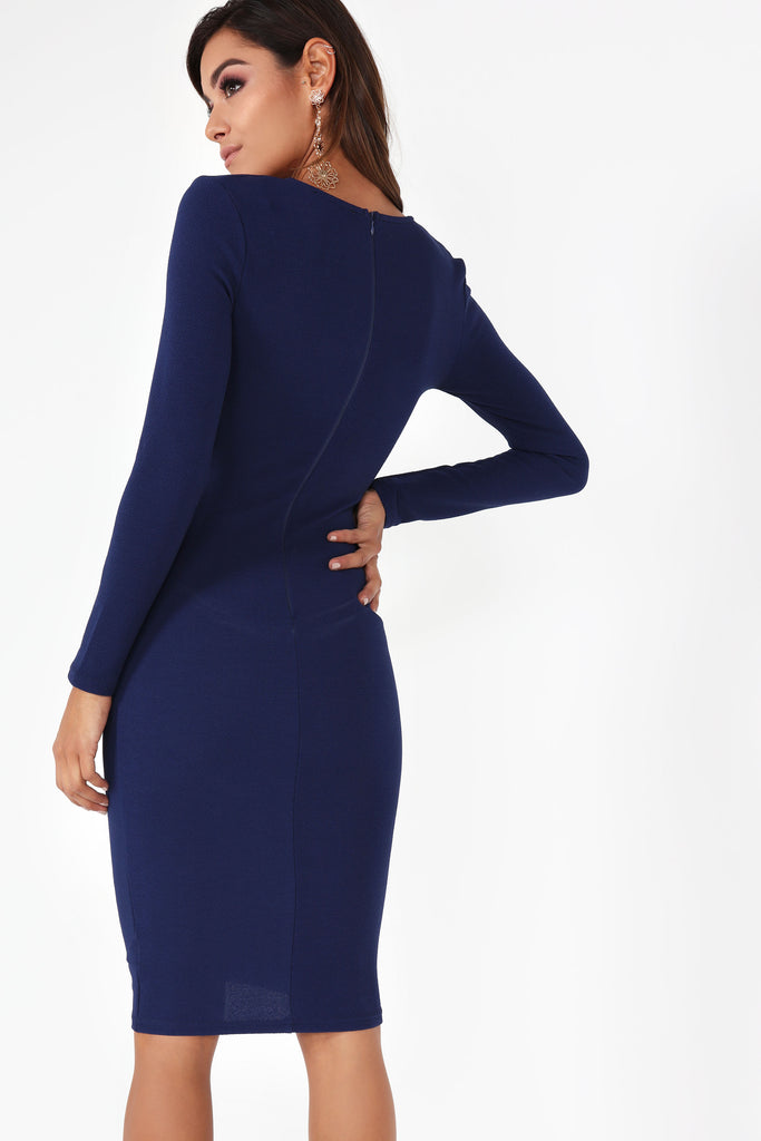 Ginsey Navy Ruched Dress