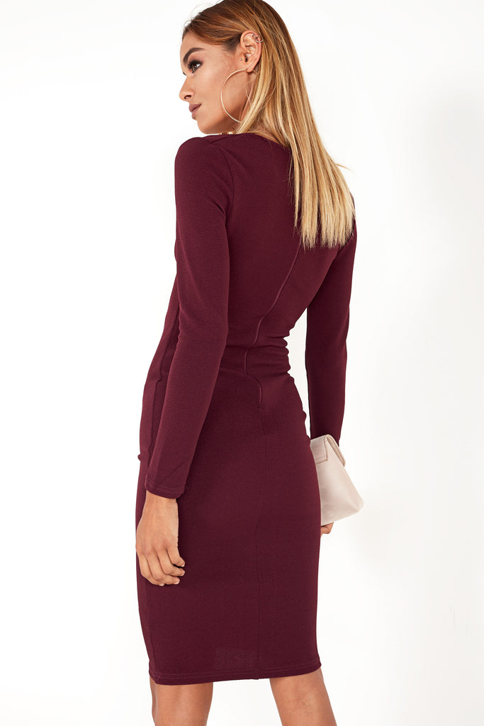 Ginsey Plum Ruched Dress