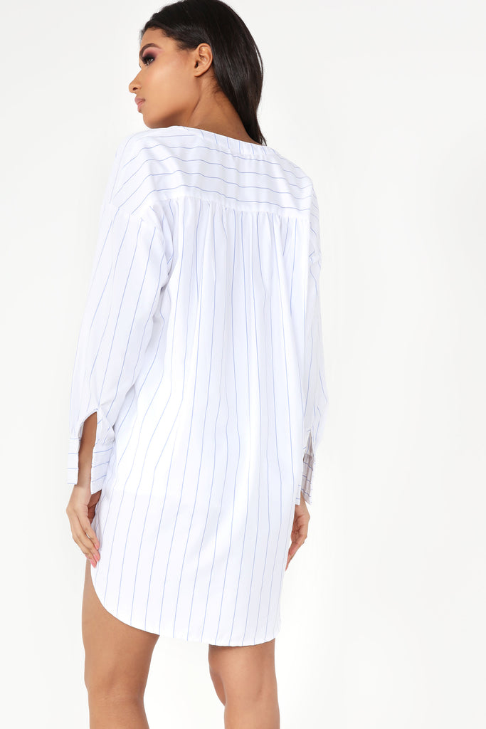 Gloria Blue Stripe Shirt Tunic