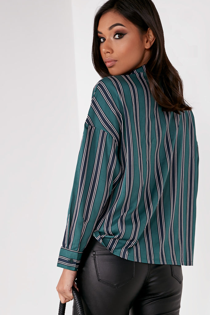 Glory Green Striped Shirt