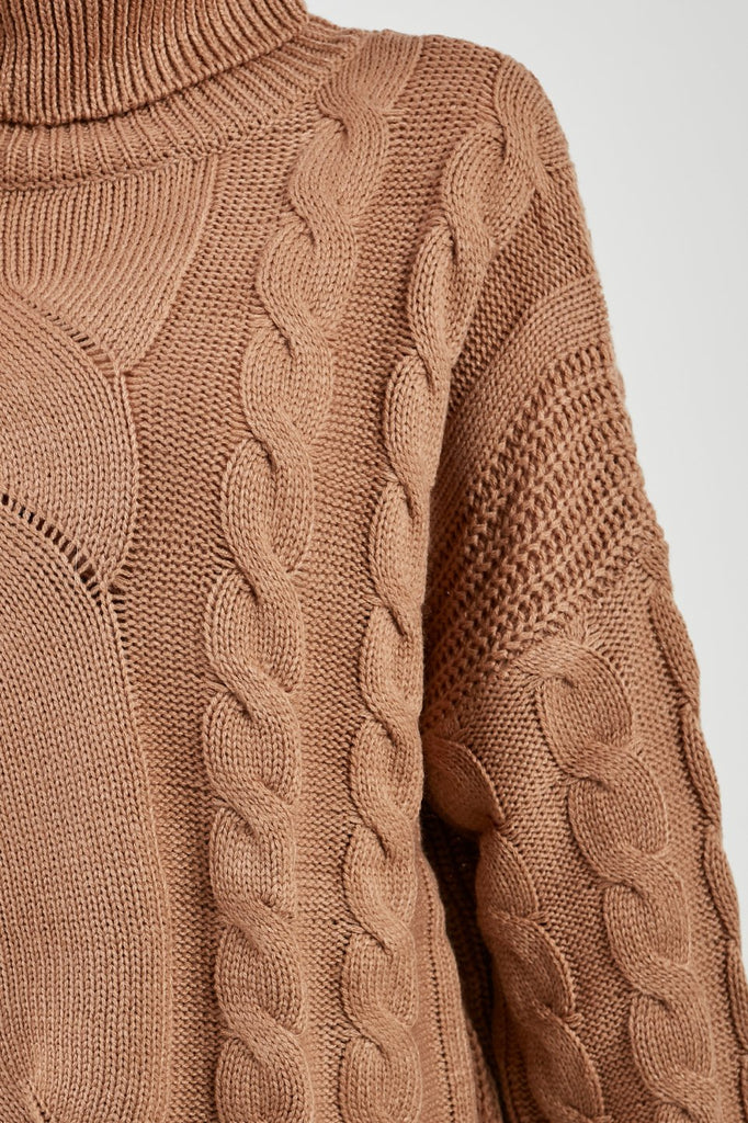 Gola Camel Cable Knit Jumper (4178737201218)