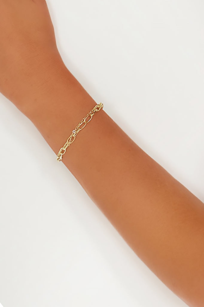 Gold Chain Layered Bracelet