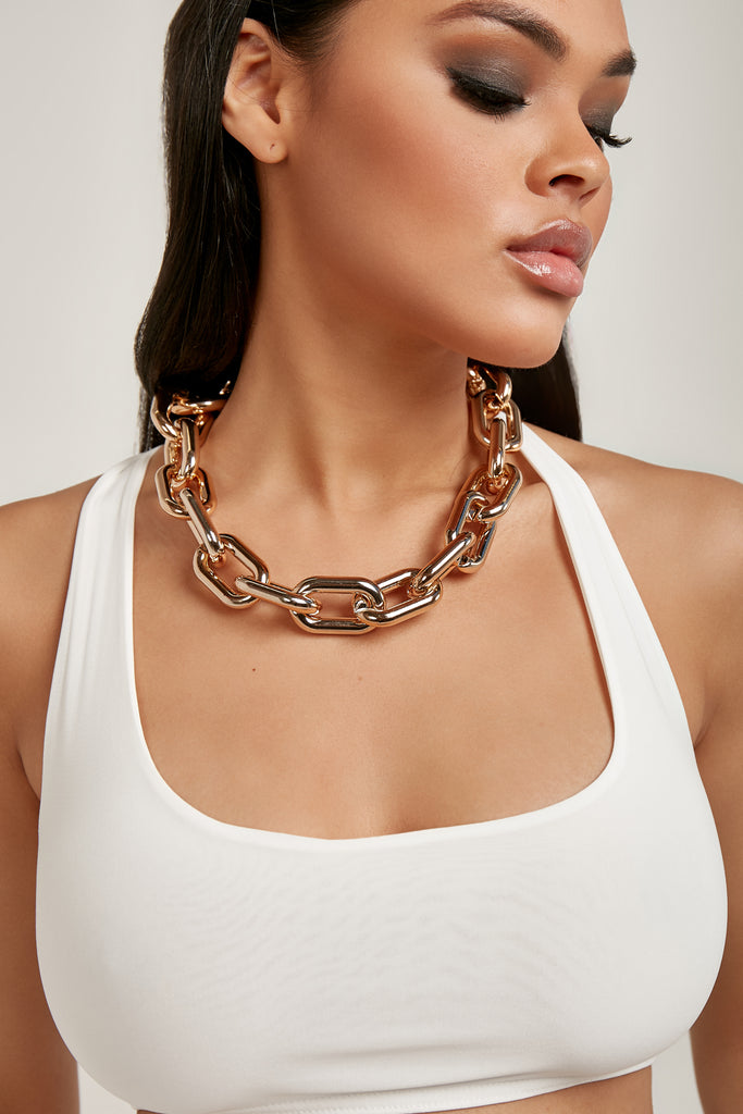 Gold Chunky Chain Link Necklace