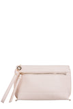 Gracie Cream Gold Trim Clutch Bag