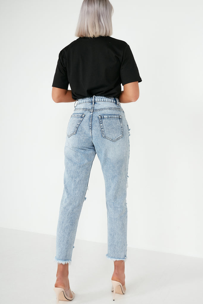Gracie Stone Washed Distressed Jeans