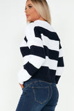 Gretchen Navy Knitted Striped Jumper