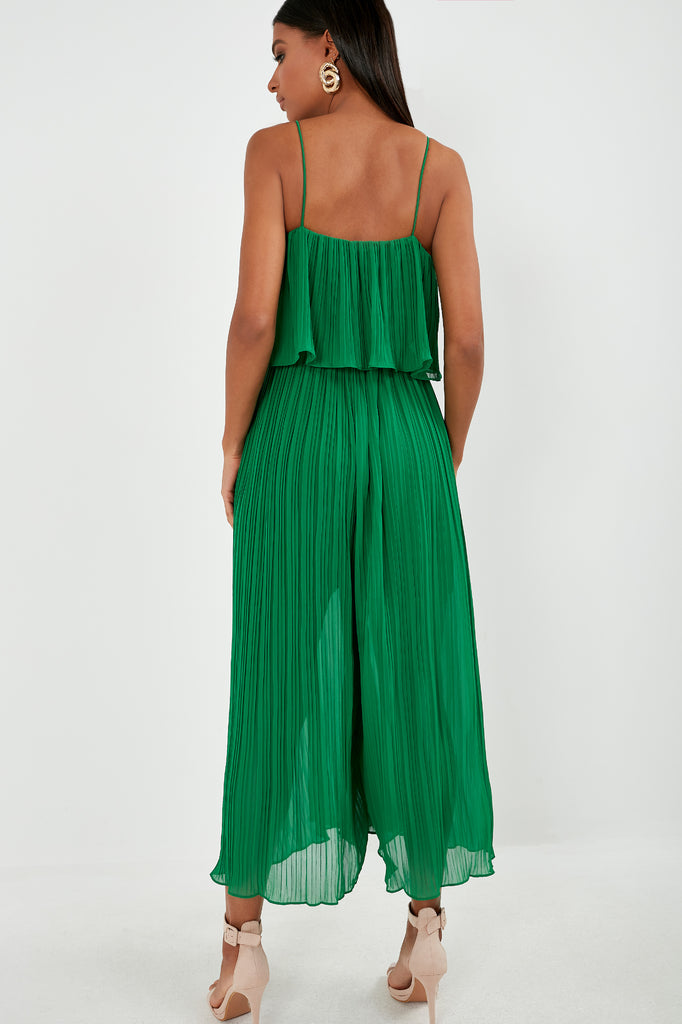 Guinevere Green Crinkle Jumpsuit