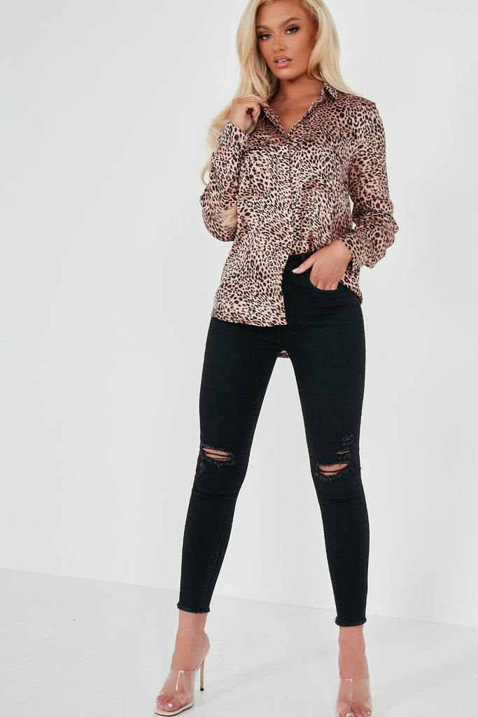 Hadley Pink Animal Print Shirt