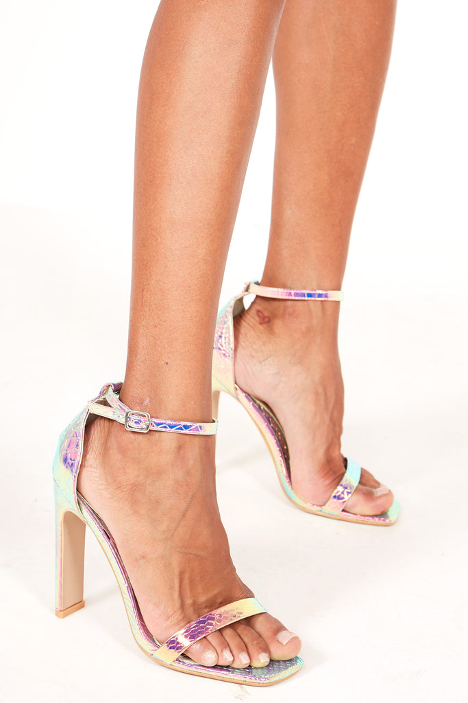Halula Iridescent Barely There Sandals