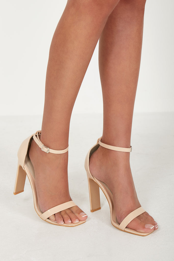 Halula Nude Patent Barely There Sandals