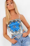 Hattie Blue Handkerchief Satin Top