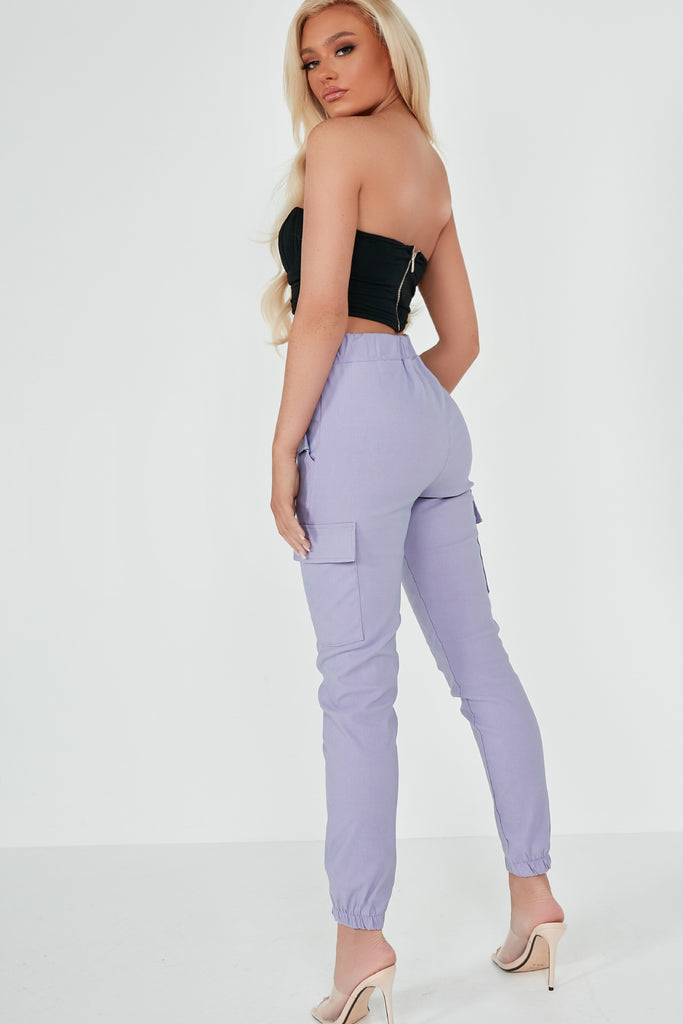 Havana Lilac Cargo Trousers