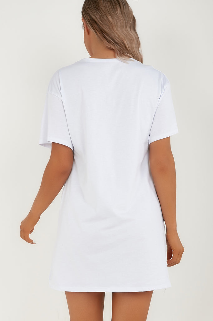 Helena White Baby Girl T-Shirt Dress