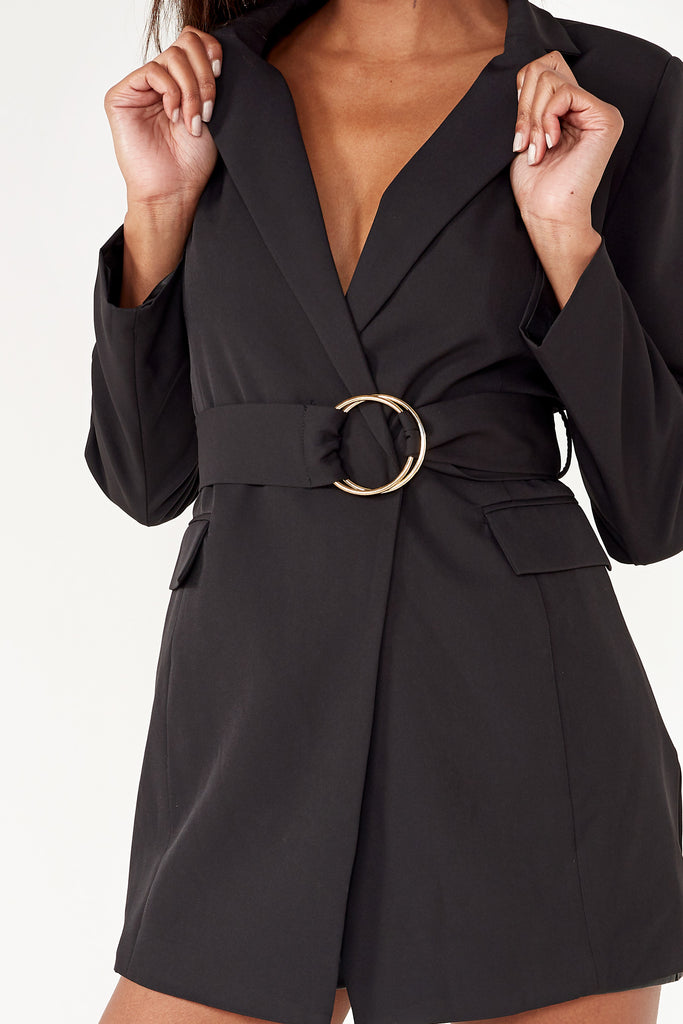 Holden Black Buckle Belt Blazer