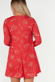 Holly Red Festive Swing Dress