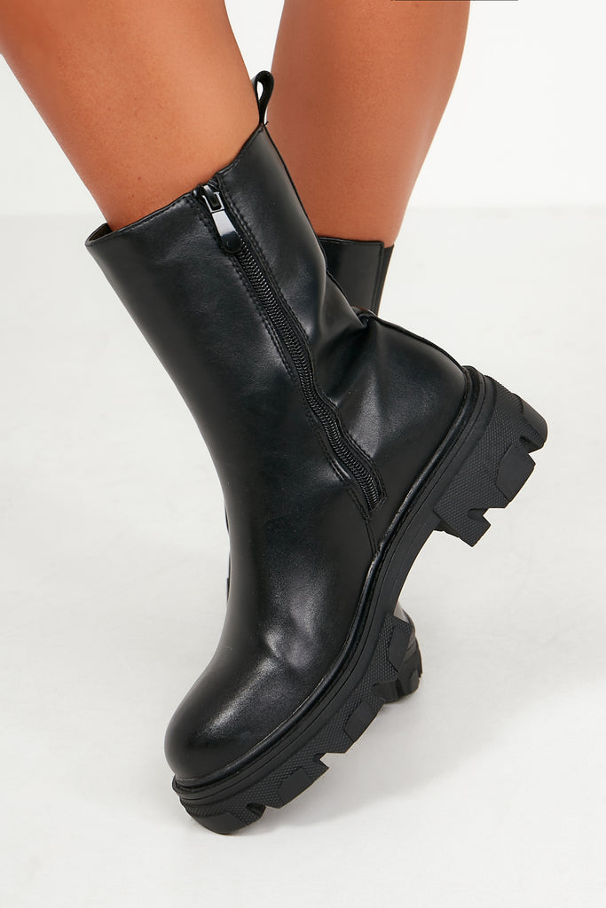 Hope Black Chunky Boots