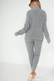 Inita Grey Ribbed Knit Trousers Co Ord