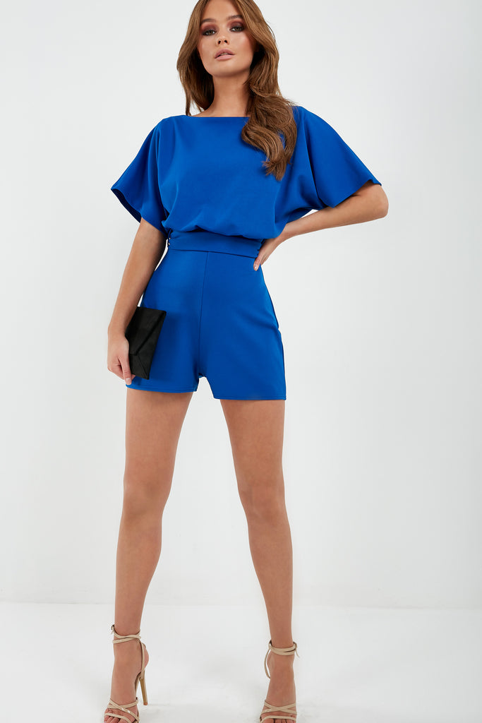 Iola Blue Batwing Playsuit