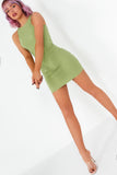 Iva Green Ribbed Mini Dress