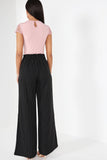 Ivvie Black Pinstripe Trousers