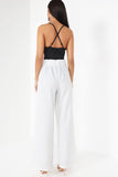 Ivvie White Pinstripe Trousers