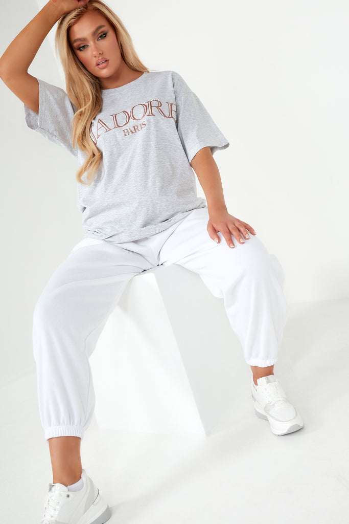 "Ivy Grey ""J'adore"" Oversized T Shirt"