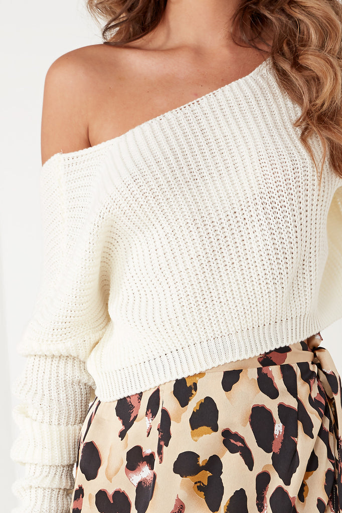 Janis Cream Knit Crop Jumper