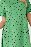 Jeneive Green Polka Dot Tunic Dress
