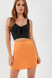 Jenny Orange A Line Mini Skirt (1921369047106)