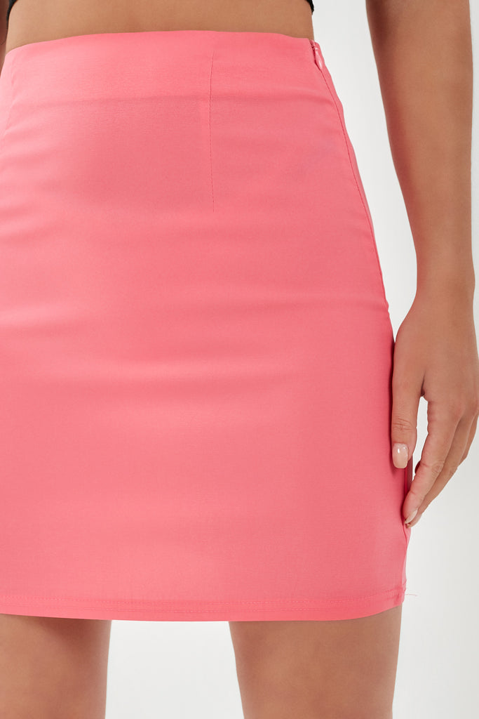 Jenny Pink A Line Mini Skirt (1921369538626)