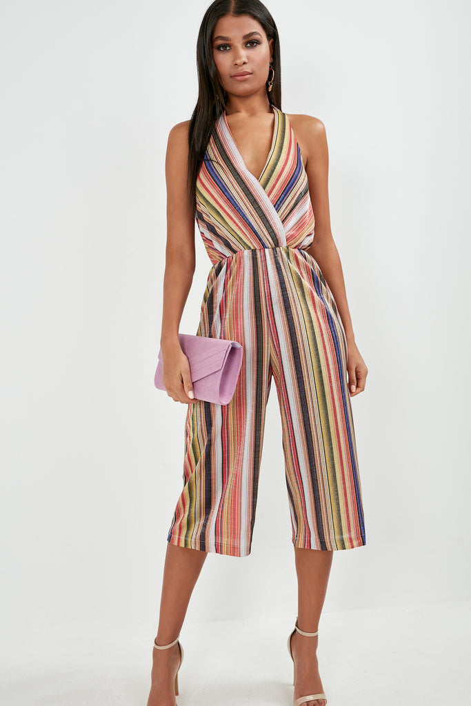 Jess Multi Striped Halterneck Jumpsuit