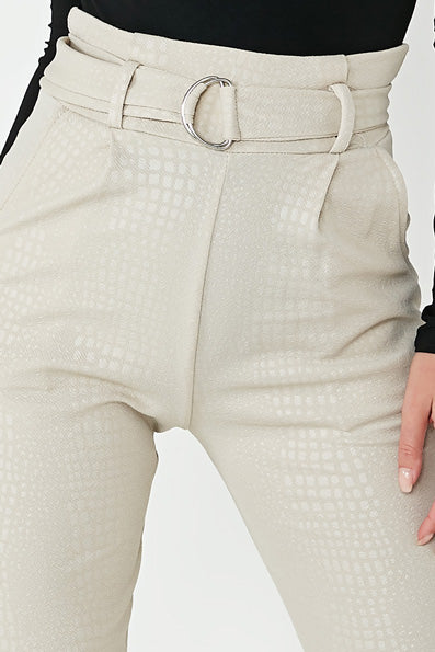Jessie Stone Croc Belted Trousers