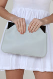 Jinnie Grey Gunmetal Trim Clutch Bag