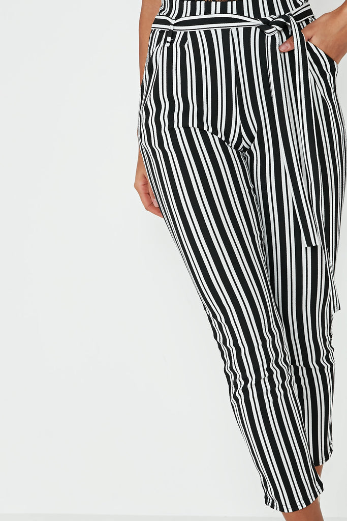 Johanna Mono High Waist Striped Trousers