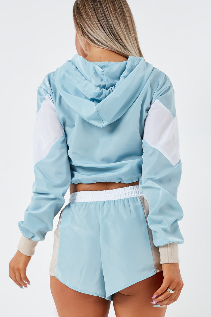 Jonie Blue Colour Block Shorts Co Ord (1953096433730)