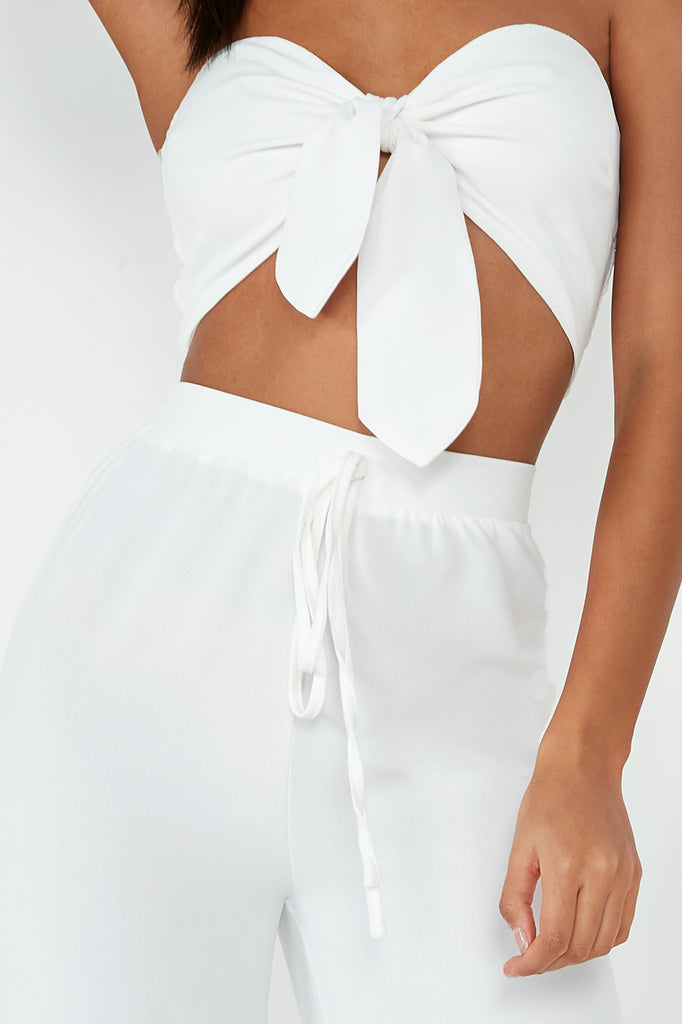 Karla White Wide Leg Trouser Co-Ord