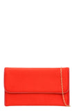 Kate Scarlet Suedette Clutch Bag (768289472620)