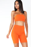 Kerrie Orange Cycling Shorts Co Ord