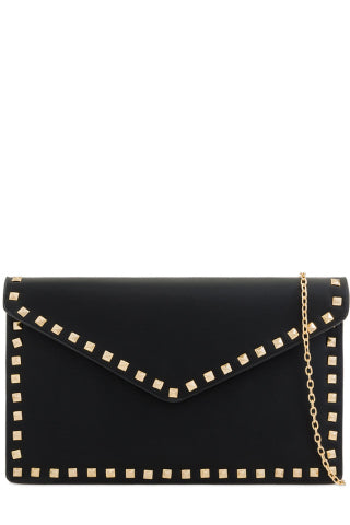 Kiki Black Leatherette Stud Bag (768288948332)