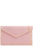 Kiki Pink Leatherette Stud Bag (768284131436)