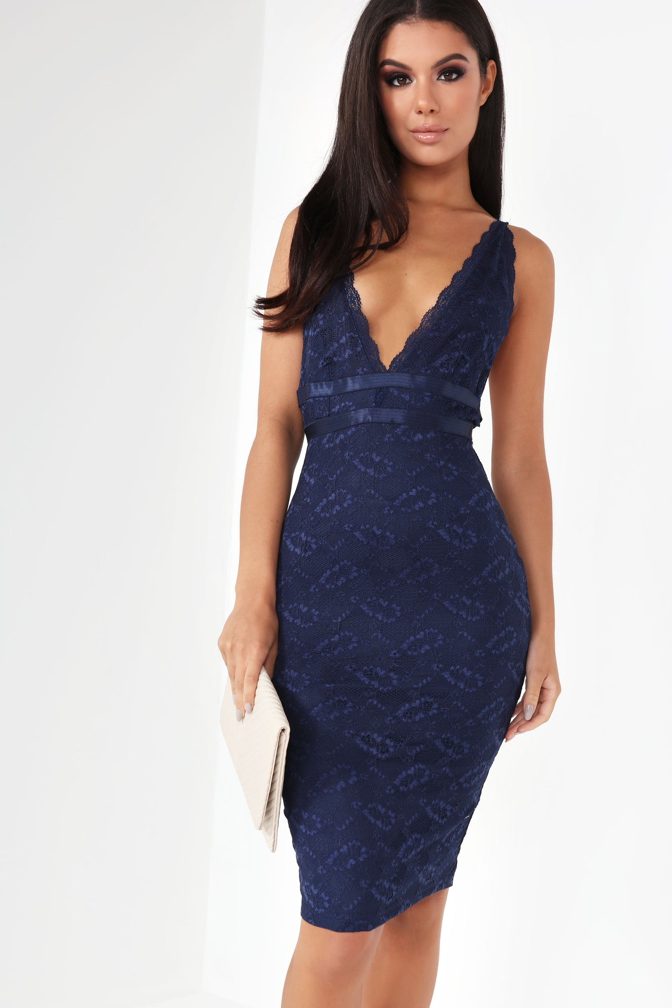 Kori Navy Lace Dress Tendencies Caps Pop Previous