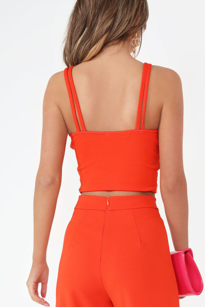 Kourtney Orange Double Strap Crop Top (752009576556)