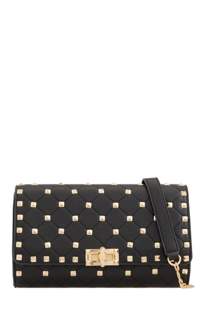 Lauren Black Quilted Clutch Bag