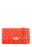 Lauren Orange Quilted Clutch Bag
