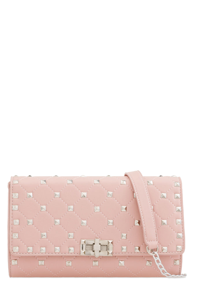 Lauren Pink Quilted Clutch Bag