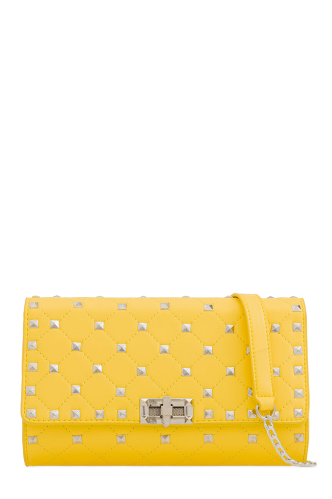 Lauren Yellow Quilted Clutch Bag