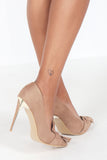 Laurie Tan Suede Bow Stilettos (9891499920)