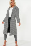 Lenny Mono Houndstooth Oversized Coat