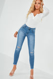 Lillian Blue Distressed Skinny Jeans